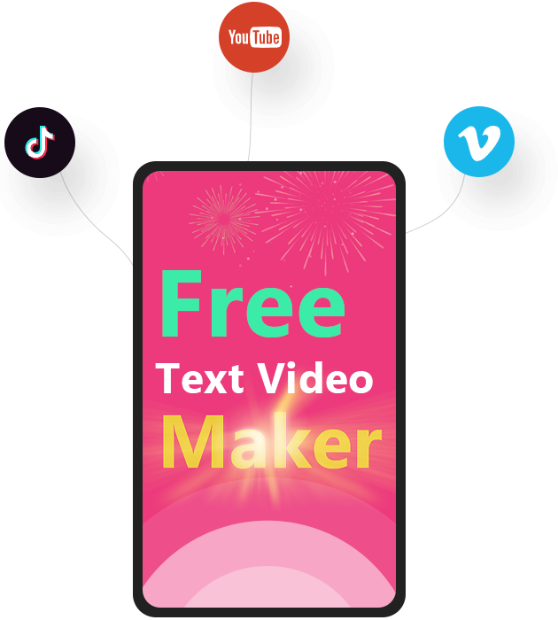 Text to Video Software & Text Animation Maker Feature 5: Share Typography Animation and Motion Typography to Social Media Platforms
