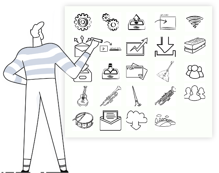 Doodle video maker & hand drawing animation software  feature3: whiteboard animation software with a free media library